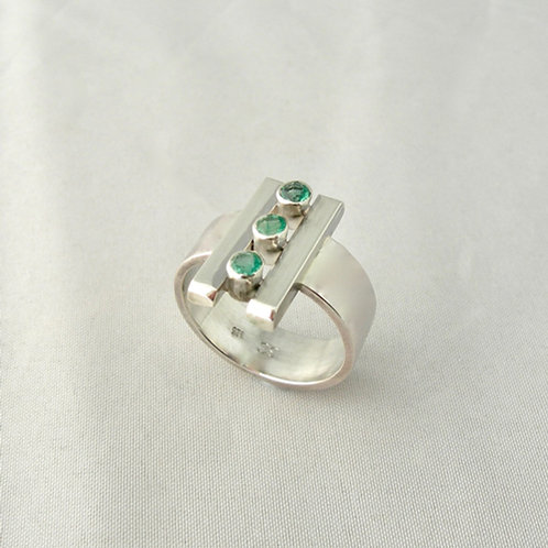 Emerald Trio Ring