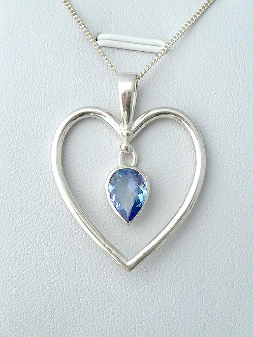 Tanzanite Heart Pendant