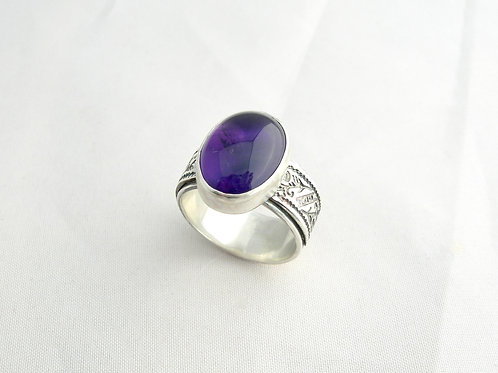 Amethyst Cab Ring (large)