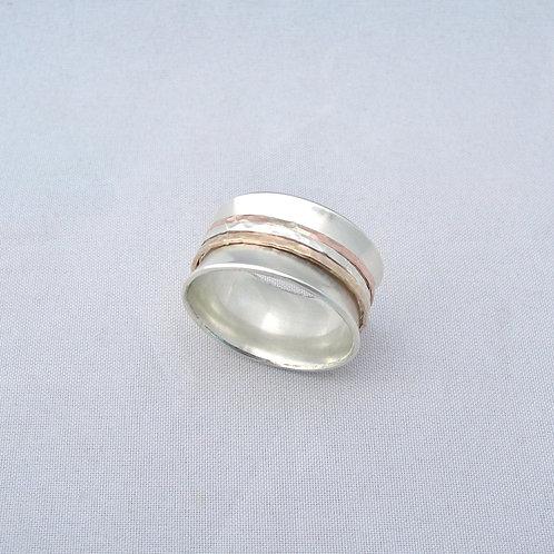 Silver & Gold Spinner Ring