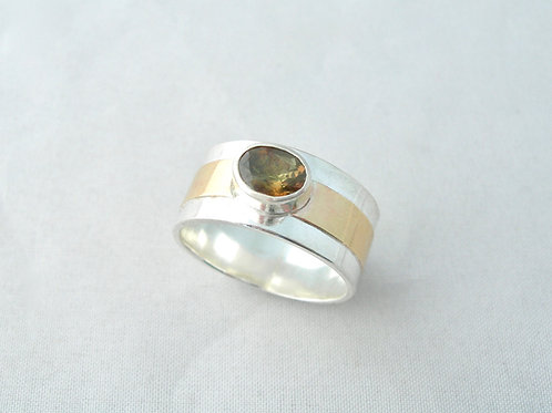 Andalusite Silver & Gold Ring