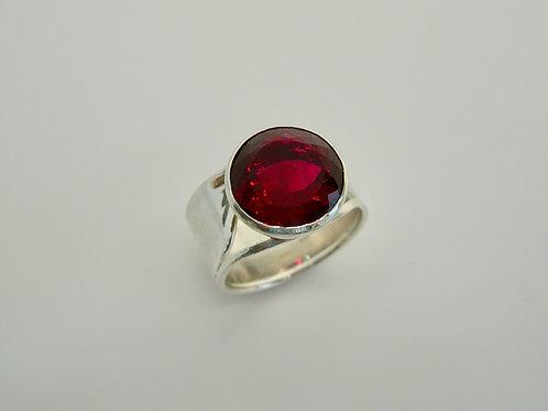 Red Topaz Ring