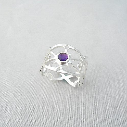 Amethyst Pierced Ring