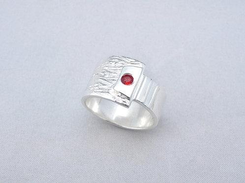 Fine Silver Sapphire Ring