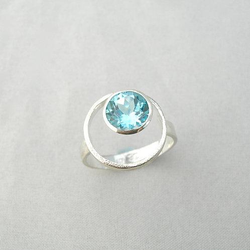 Blue Topaz Orbit Ring