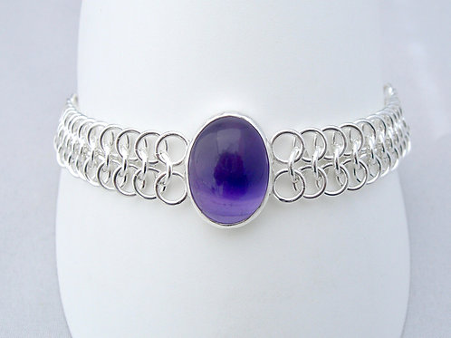 Amethyst Chainmaille Bracelet