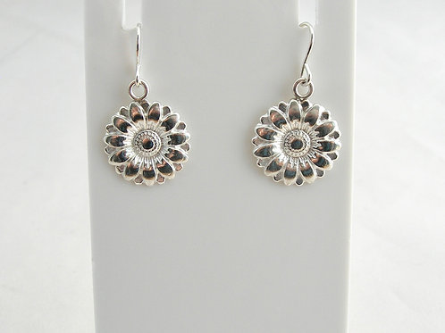 Fine Silver Daisy Earrings