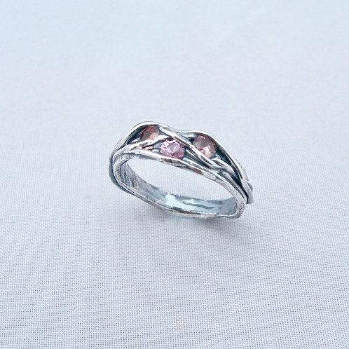Spinel Twig Ring
