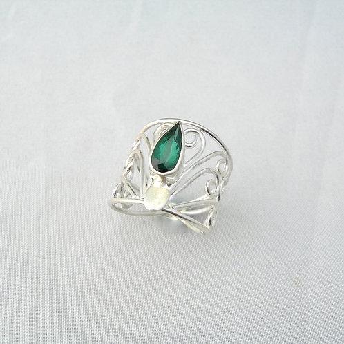 Tourmaline Filigree Ring