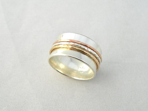 Silver & Gold Spinner Ring