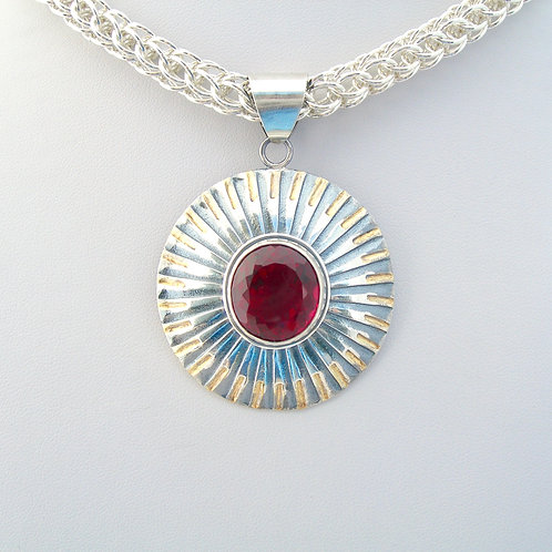 Red Topaz Necklace