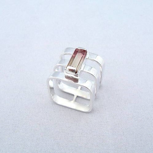 Bi-colour Tourmaline Ring