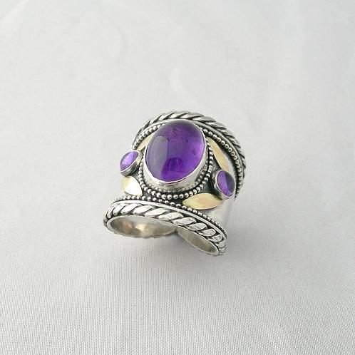 Amethyst Medieval Ring