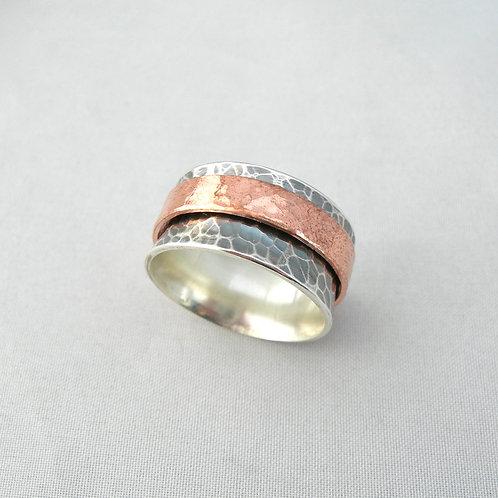 Silver & Copper Spinner Ring