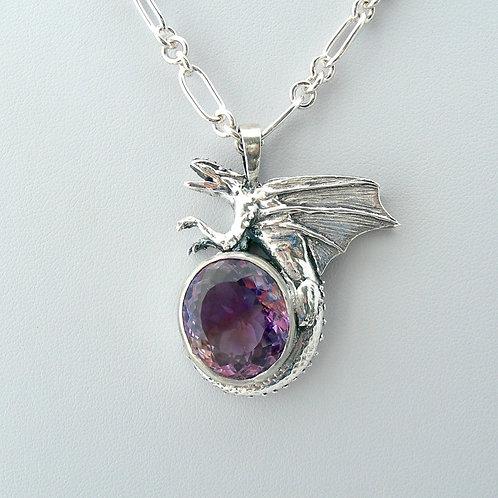 Fine Silver Dragon Necklace