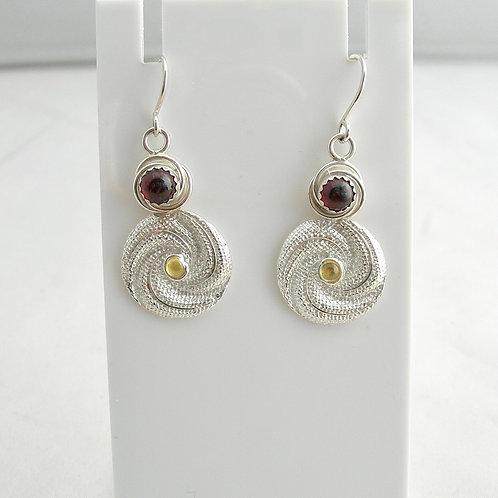 Garnet & Sapphire Earrings