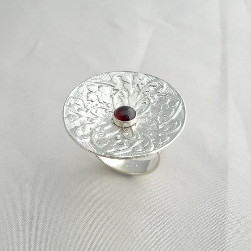 Garnet Dish Ring