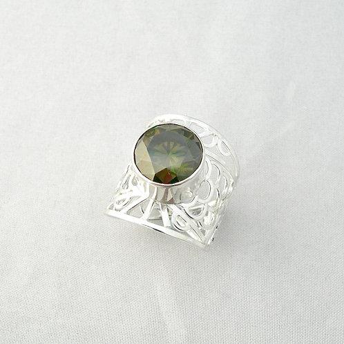Moissanite Filigree Ring