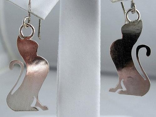 Cat Earrings Sitting