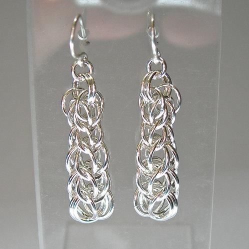Graduated Foxtail Chain Earrings