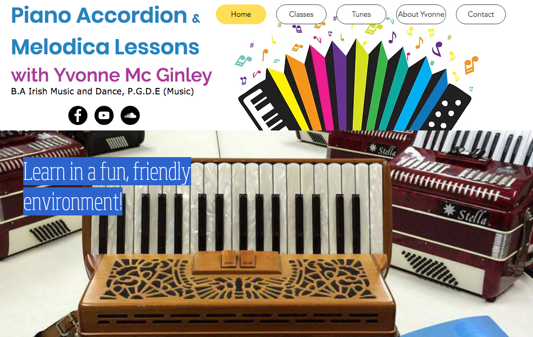 Yvonne Mc Ginley | Piano Accordion Teacher | Donegal