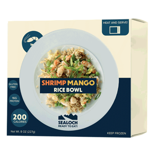 Frozen Shrimp Mango Rice Bowl