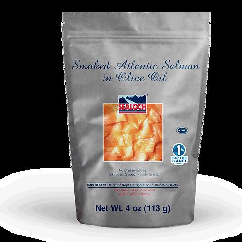Smoked Atlantic Salmon in Olive Oil 4 oz