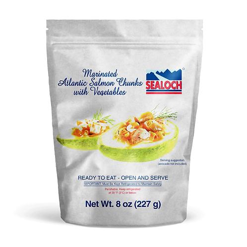 Marinated Atlantic Salmon Chunks with Vegetables 8 oz