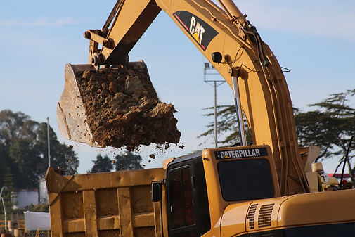 Stock image of construction equipment