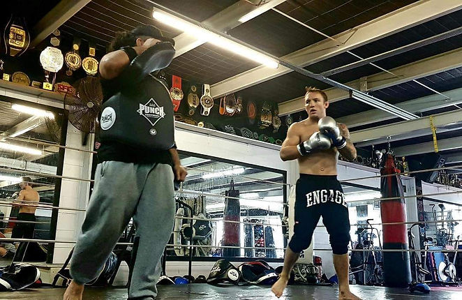 Brad Riddell City Kick Boxing In Ring.jp