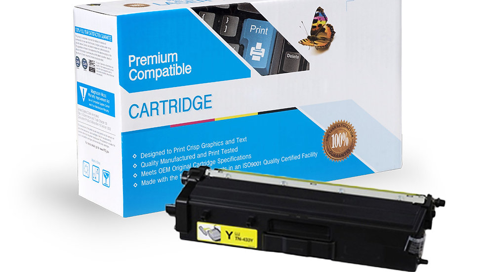 Brother TN433Y High Yield Compatible Toner- Yellow