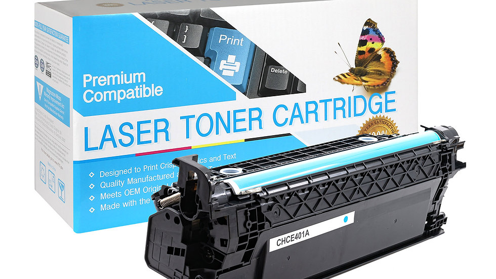 HP Compatible CE401A (507A) Cartridge Cyan