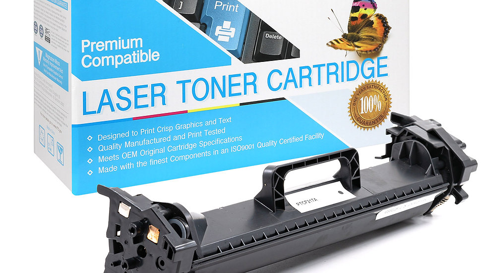 HP CF217A (17A) Compatible Toner WITH CHIP- Black