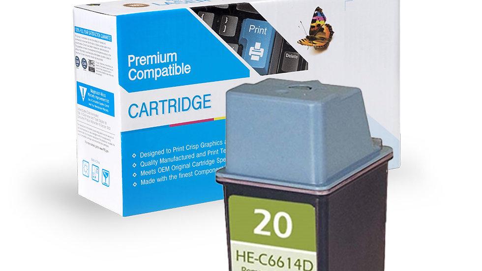 HP Remanufactured Ink Cart C6614D (No. 20)