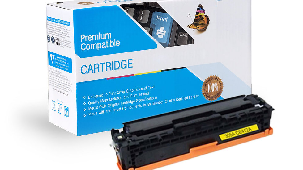 HP CE412A (305A) Compatible Toner- Yellow