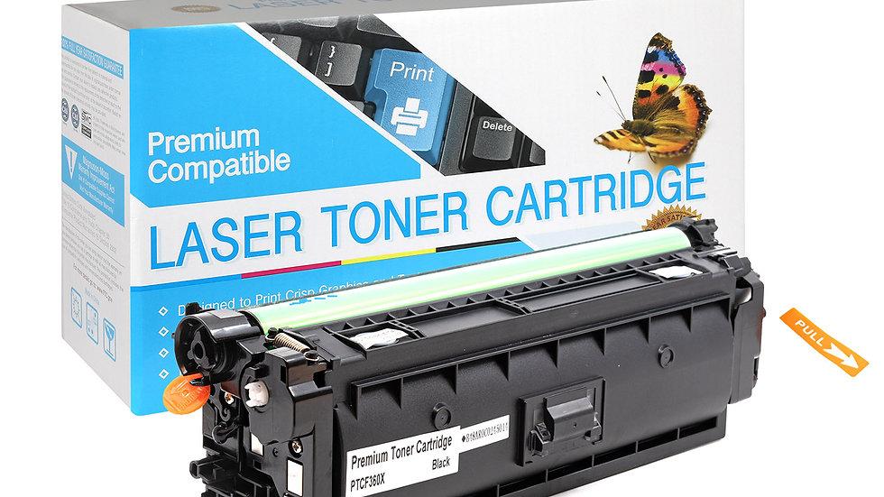 HP CF360X, 508X High Yield Compatible Toner- Black