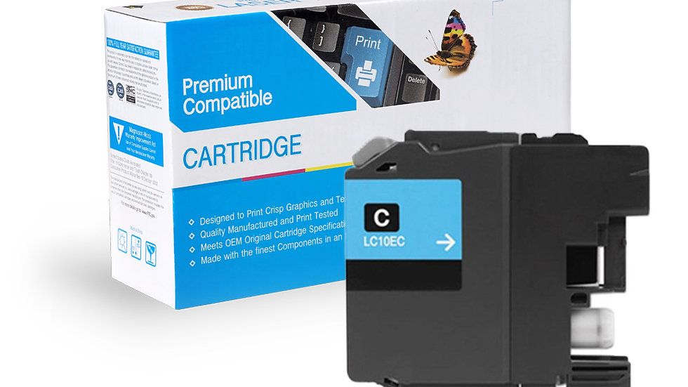 Brother LC10EC Compat Super High Yield Cyan Ink Cartridge