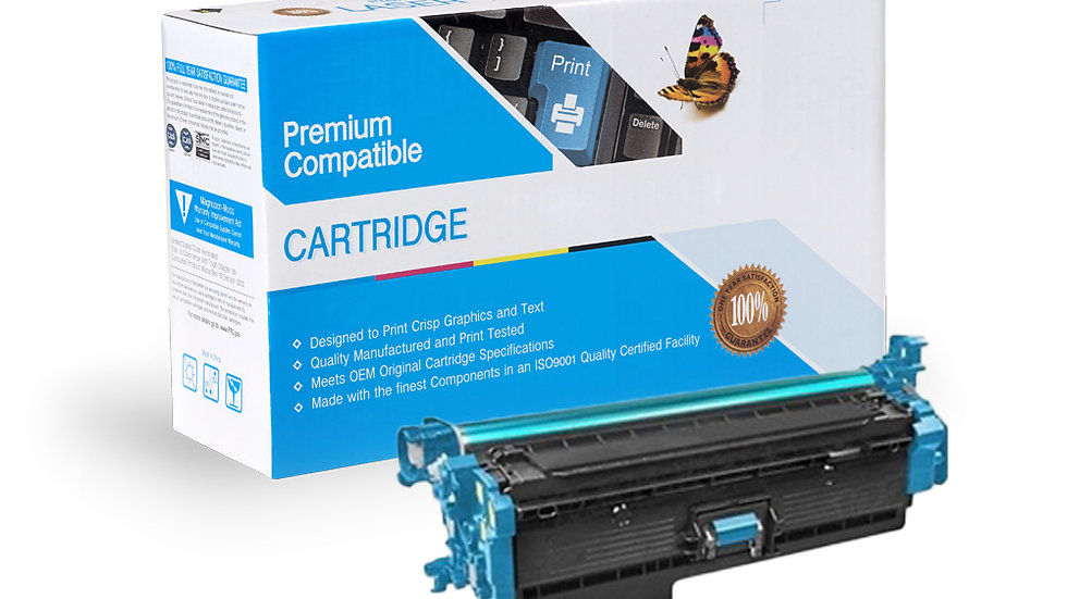 HP CF361X, 508X High Yield Compatible Toner- Cyan