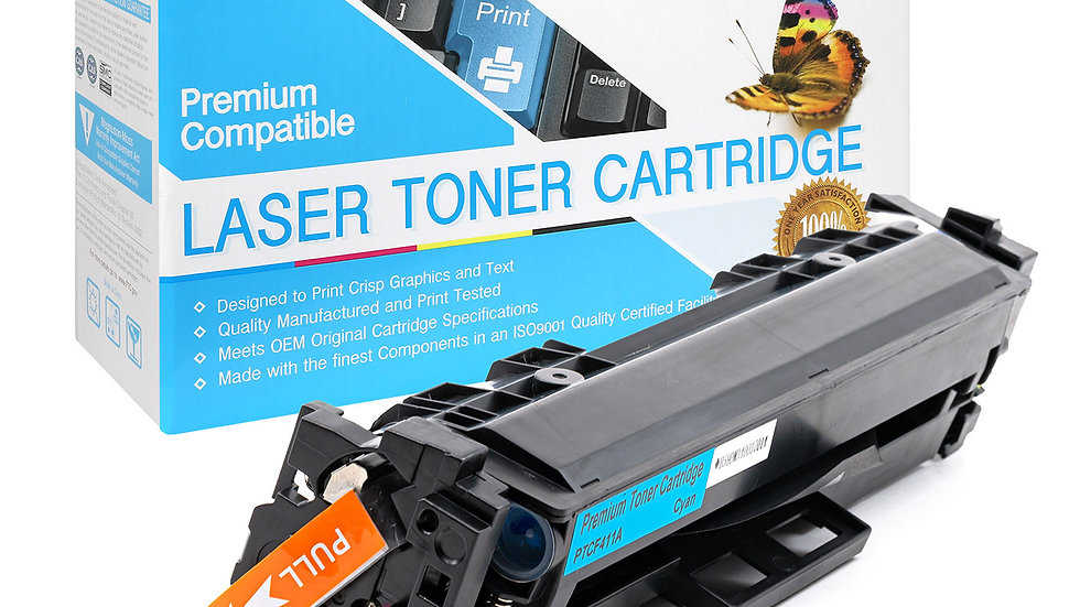 HP CF411A, 410A Compatible Toner- Cyan