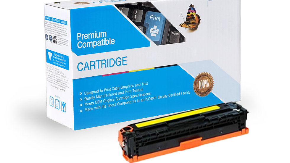 HP Compatible CE342A Cartridge (651A) Yellow