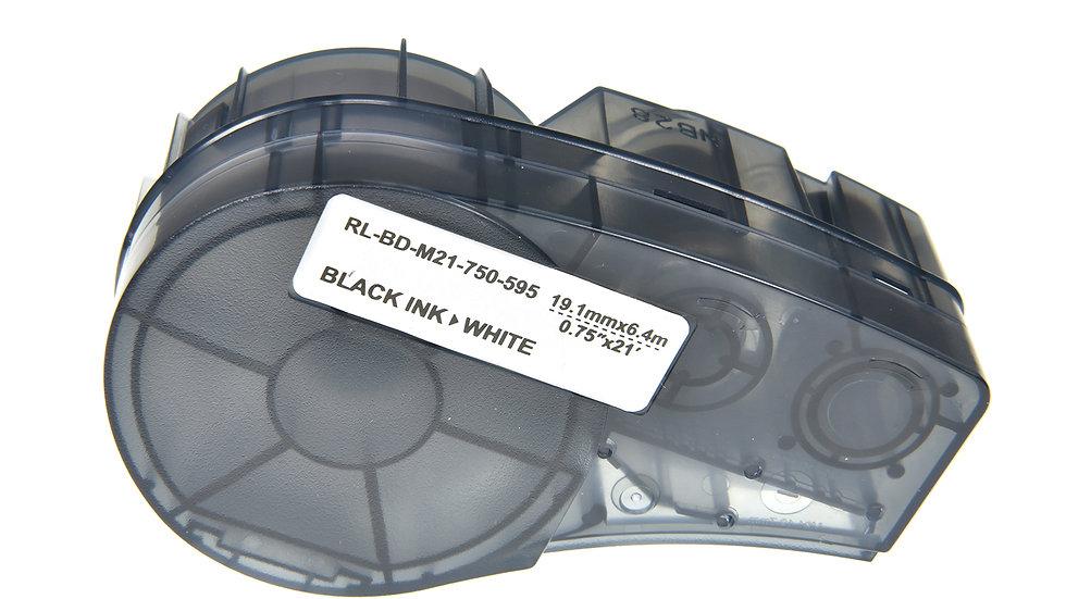 Brady M21-750-595-WT Comp. Label Cartridge- Black on White