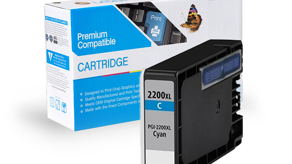 Canon PGI-2200XL Compatible Inkjet- Cyan