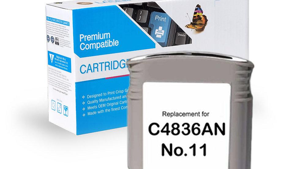 HP Remanufactured Ink Cart C4836AN, No. 11 Cyan