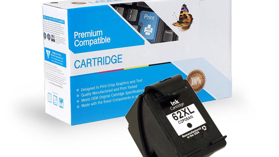 HP C2P05AN, 62XL Reman Inkjet- Black