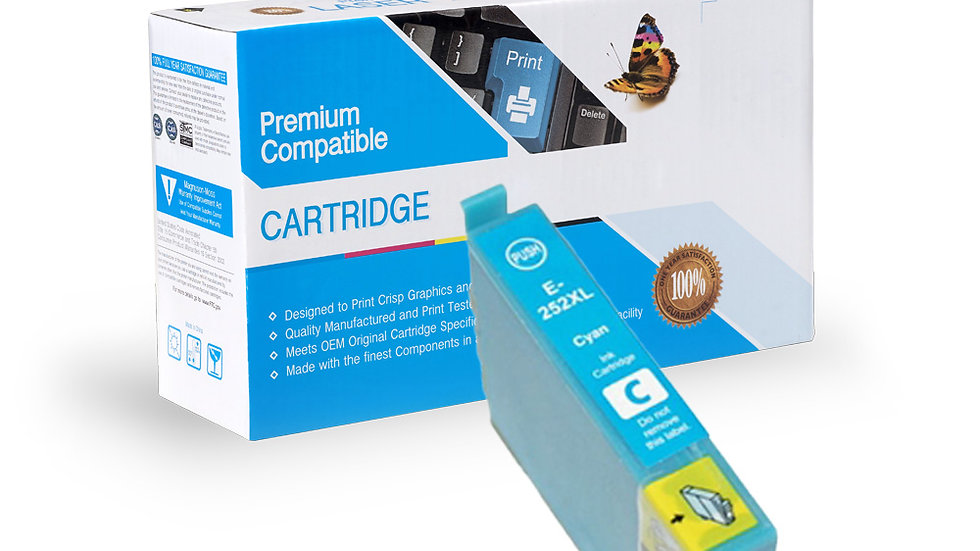 Epson T252XL220 Remanufactured Hi Yld Cyan Ink Cartridge