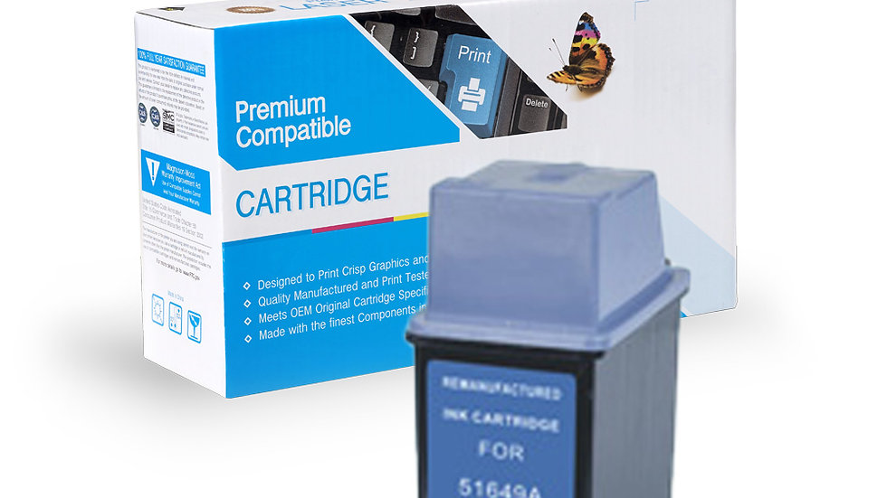 HP Remanufactured Ink Cart 51649A (No. 49)