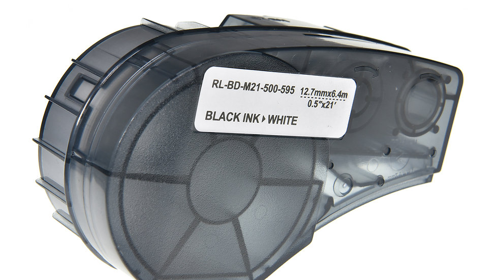Brady M21-500-595-WT Comp. Label Cartridge- Black on White