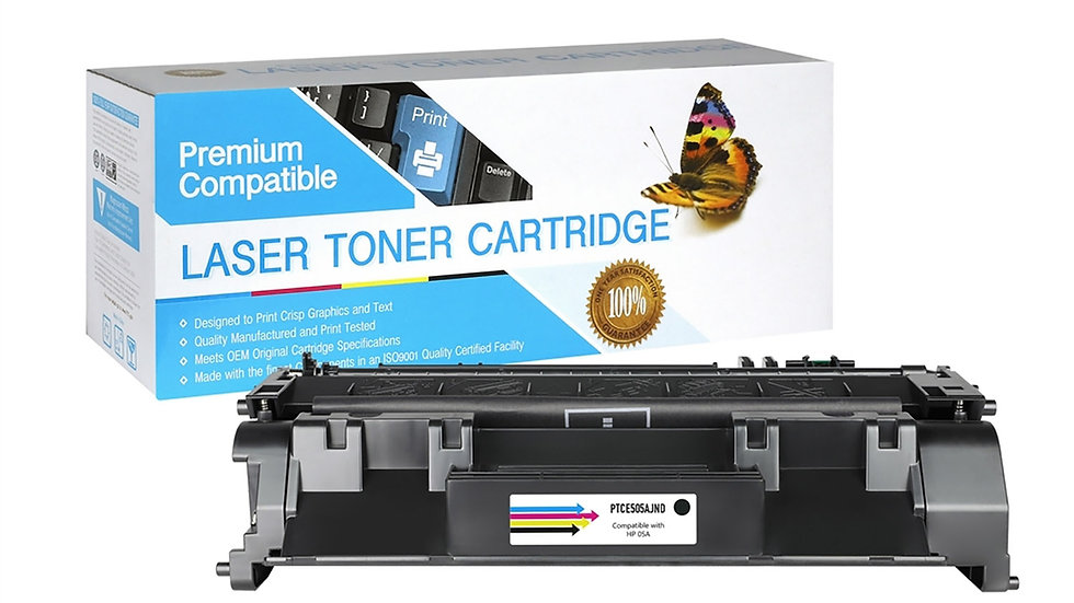 HP CE505A Compatible Jumbo Toner Cartridge- Black