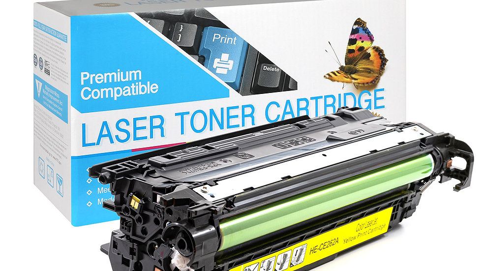 HP Compatible CE262A  Yellow Toner Cartridge