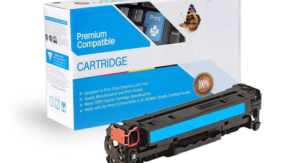 HP CF381A (HP 312A) Compatible Cyan Toner Cartridge